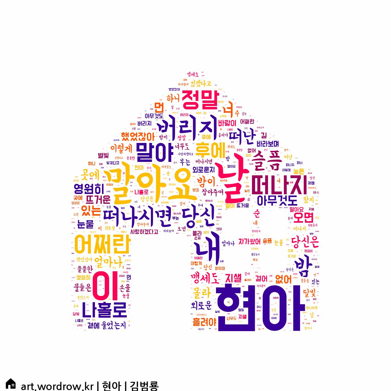 워드 아트: 현아 [김범룡]-67